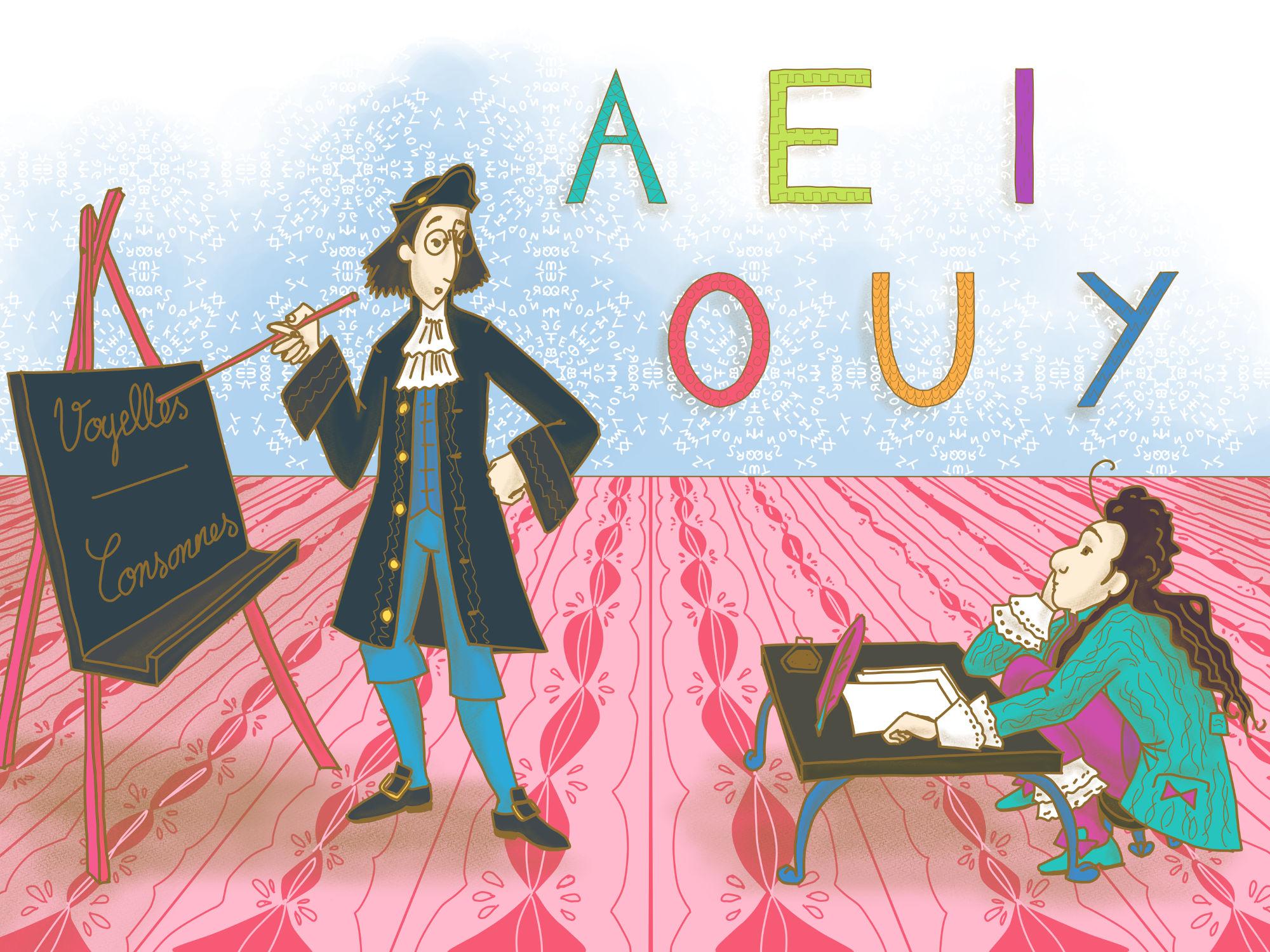 Belle marquise et Bourgeois Gentilhomme - Cours Troubadour - illustration