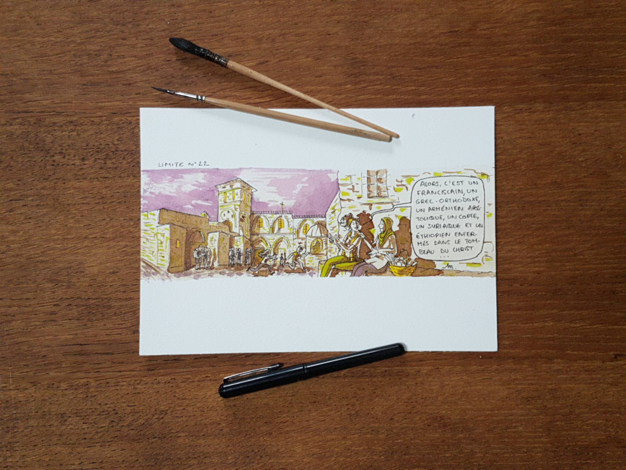 Six hommes et un lieu saint - illustration