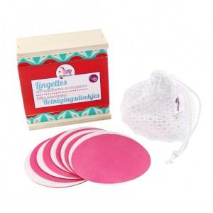 le coffret de 10 lingettes démaquillantes lavables en micro fibre est disponible sur marguette.com
