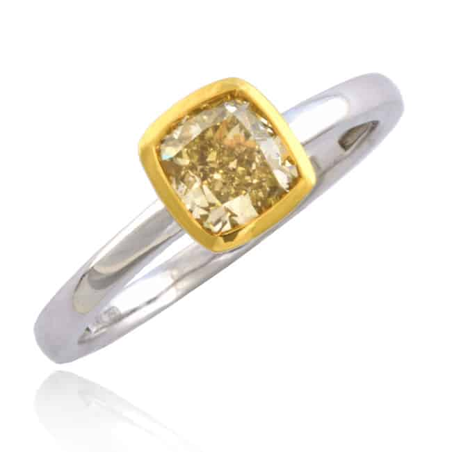 Fancy Yellow Diamond Solitaire Ring Image