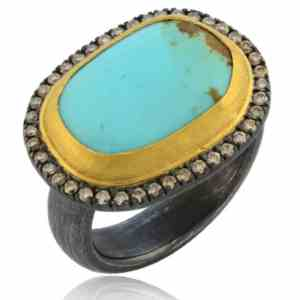 Turquoise & Diamond Ring Image