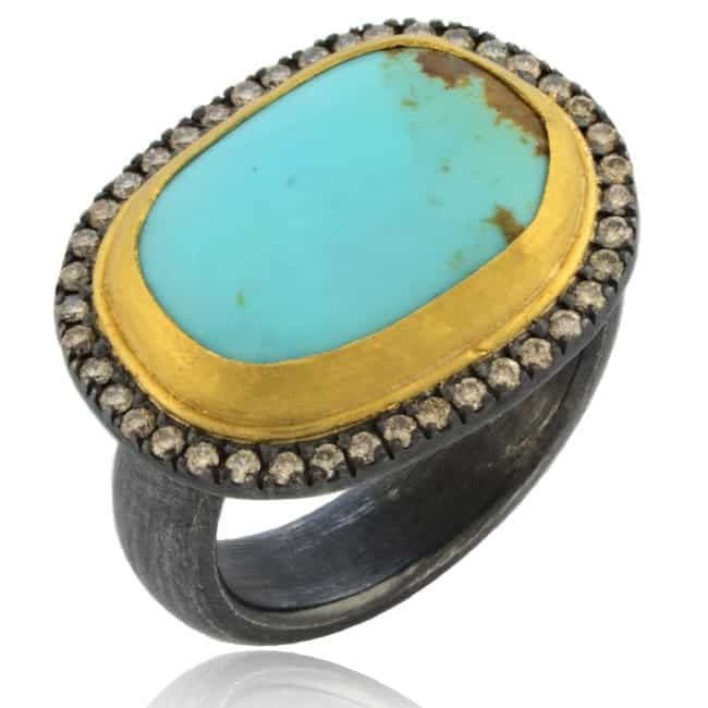 Turquoise & Diamond Ring Image