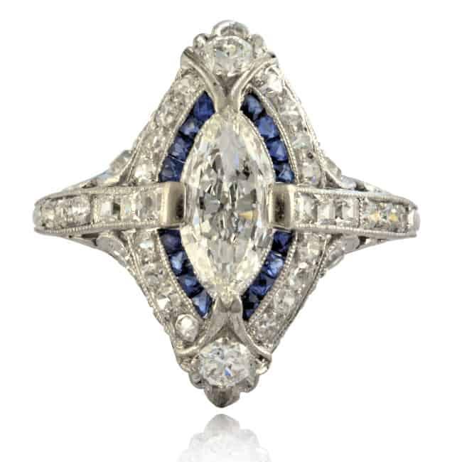 Diamond & Sapphire Ring Image