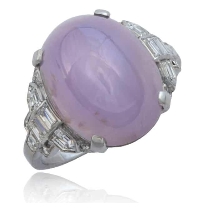 Star Sapphire & Diamond Ring, by Tiffany Image