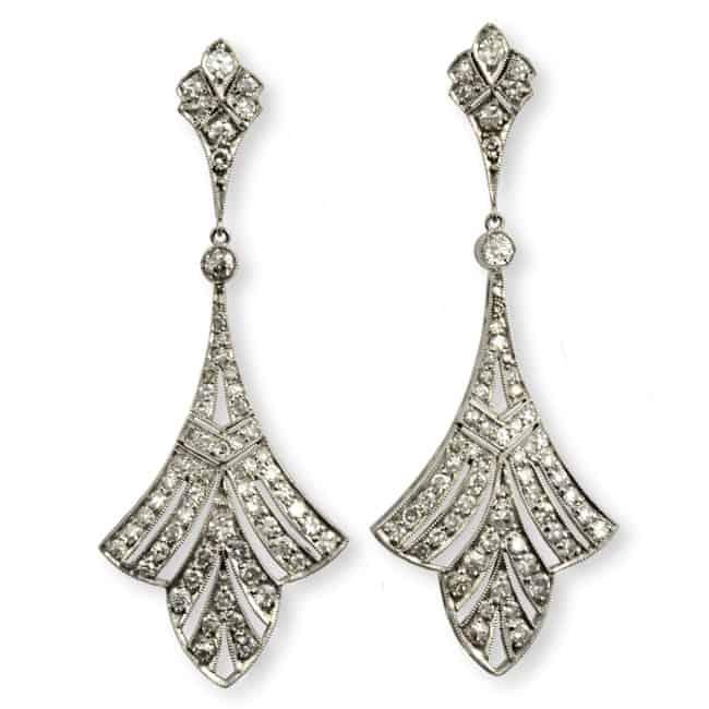 Art Deco Diamond Earrrings Image