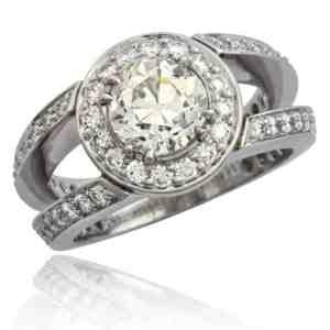 Split Shank Diamond Engagement Rng Image