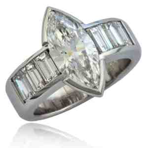 Marquise & Baguette Diamond Ring Image