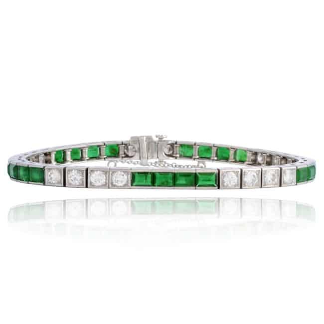 Emerald & Diamond Bracelet Image