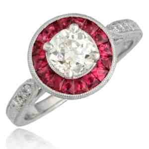 Diamond & Ruby Ring Image
