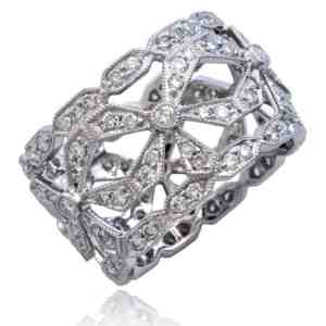 Ribbon & Bow Diamond Ring Image