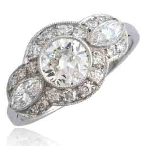 Diamond Engagement Ring, 18k white gold Image
