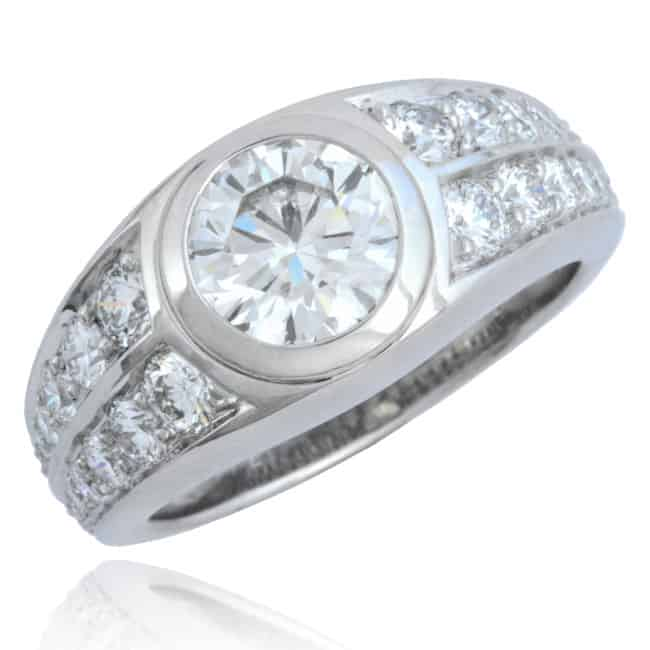 Diamond Platinum Ring Image