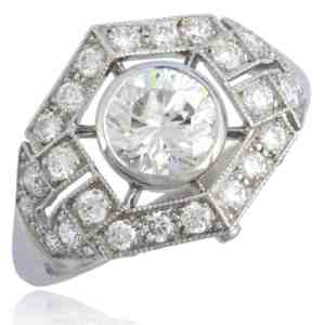 French design Diamond Ring Image