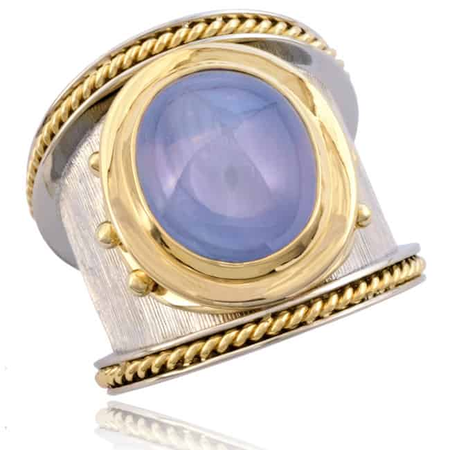 Blue Star Sapphire Ring Image