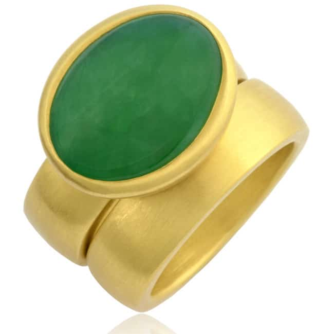 Imperial Green Jade Ring Image