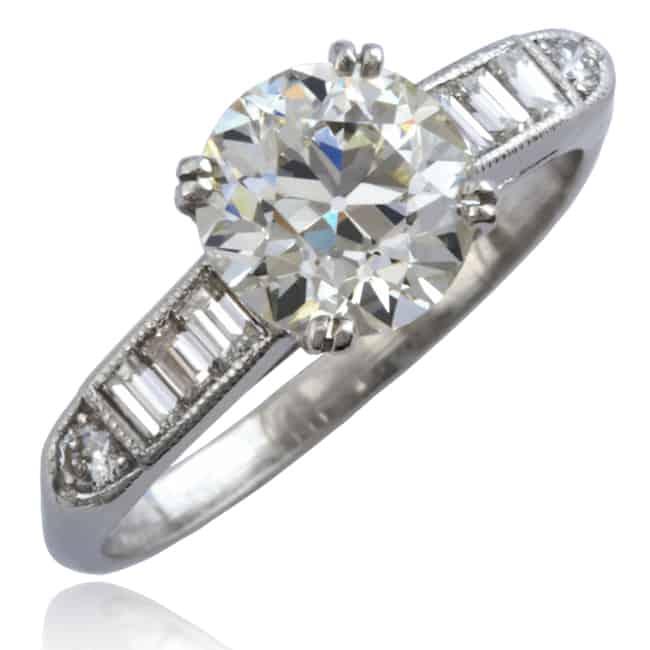 Vintage Diamond Engagement Ring Image