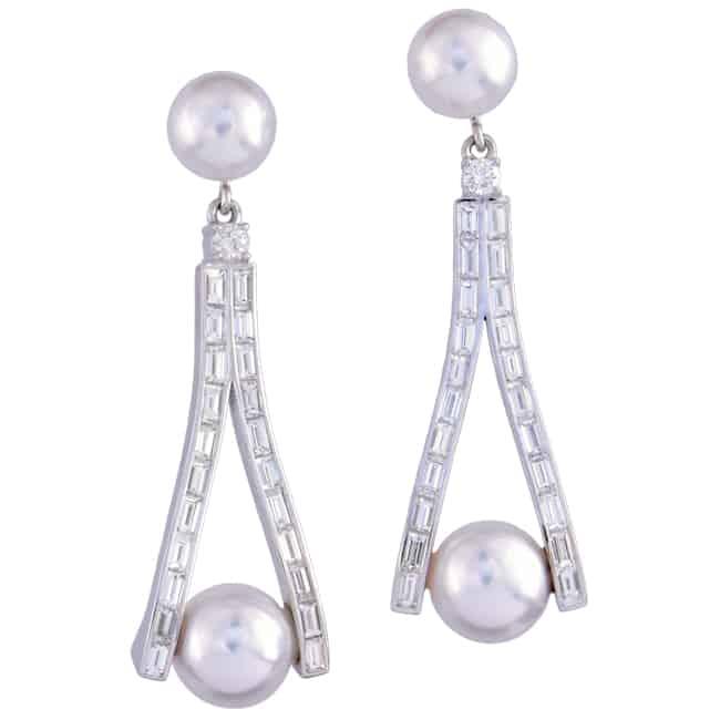 South Seas Pearl & Diamond Earrings Image