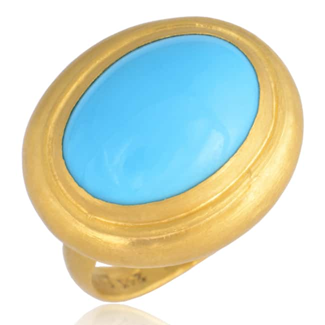 """Sleeping Beauty"" Turquoise Ring, set in 24k Gold Image"
