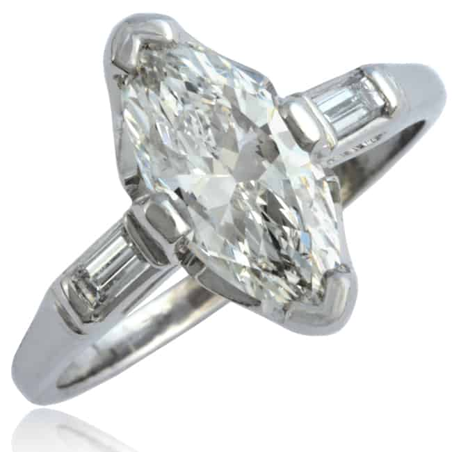 Art Deco Marquise Diamond Ring Image