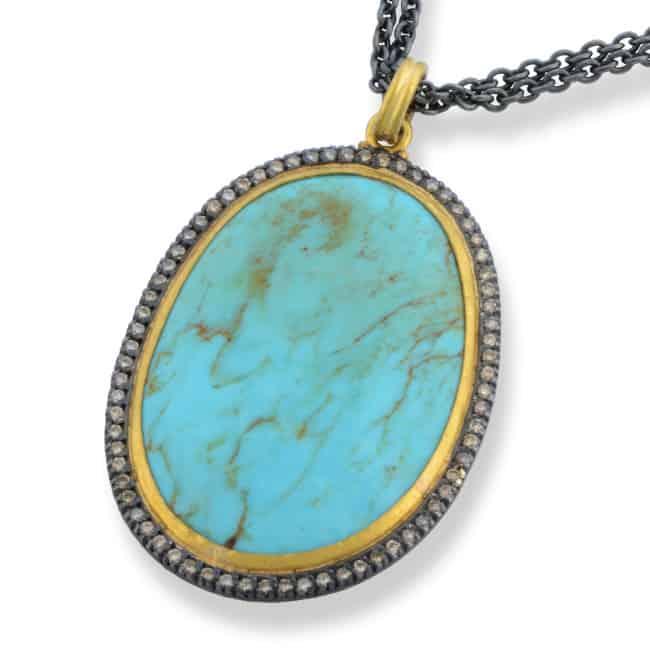 Turquoise & Diamond Pendant Image