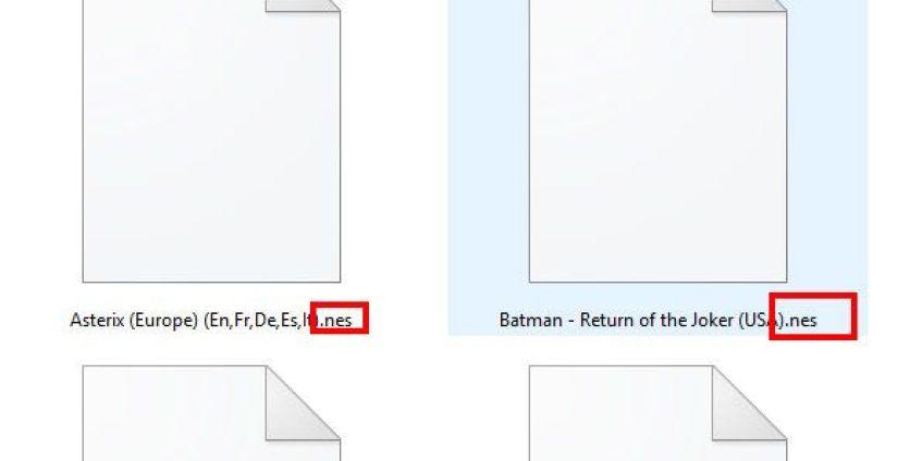 Fichier au format .nes = jeux nes
