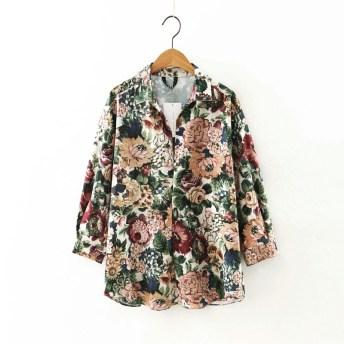 Retro Floral Blouse R400