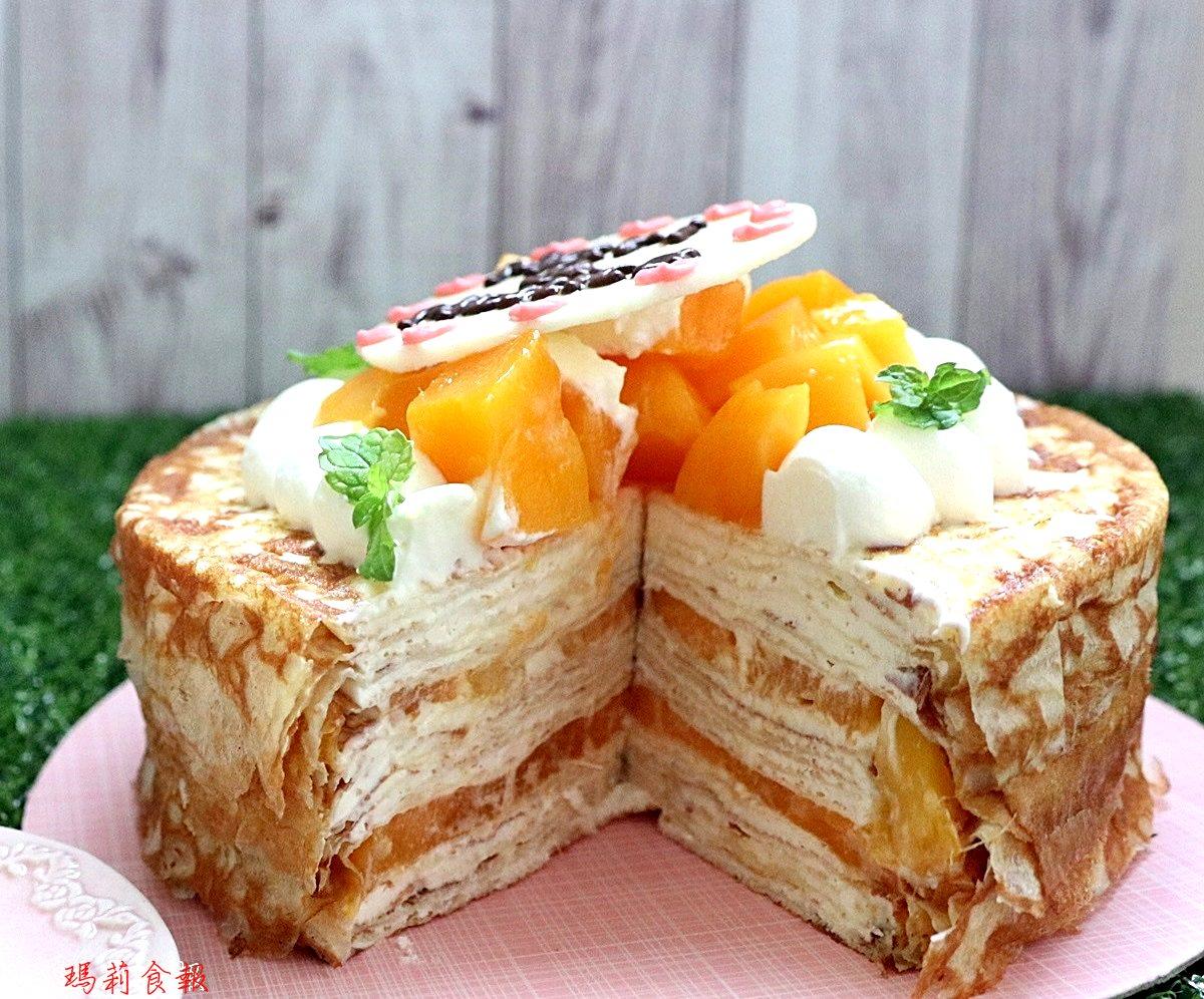 台中甜點,Supple甜點工作室的芒果起士千層,迷人的新鮮芒果跟水果