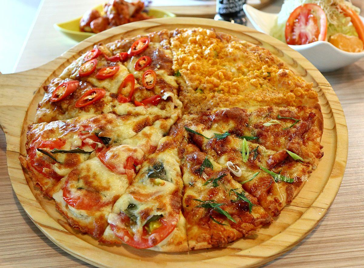 喬e歐爸爸 手工披薩吃到飽 二十多種口味披薩 壽星五折優惠 食尚玩家推薦 台中必吃美食