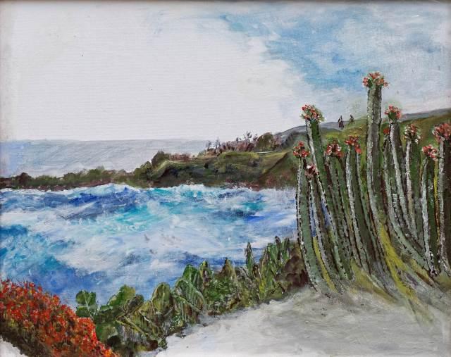 2016 - La Palma, 50x40cm, Acryl-Spachteln