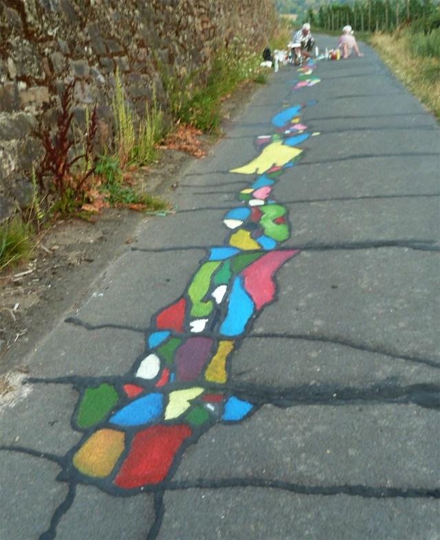 2014 - Straßenmalerei - Hamm Boppard, Acryl