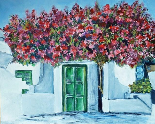 2014 - Lanzarote - Weißes Haus, 50x40cm, Acryl-Spachteln