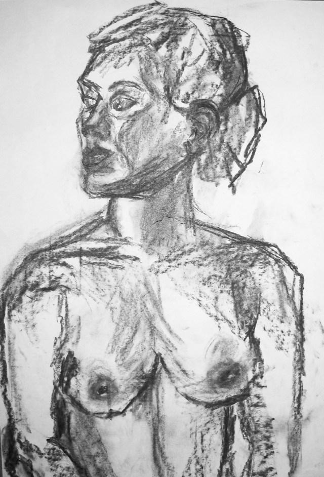 2008 - Frau, 40x50cm, Kohle