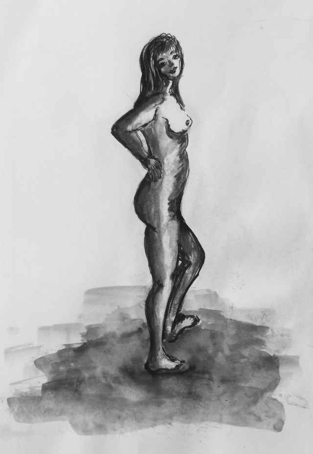 2009 - Akt Frau, 40x50cm, Tusche