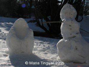 Snöskulpturer