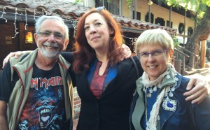 Jim and Barbara Moskovich with author Maria Alexander