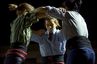 Castellers practice