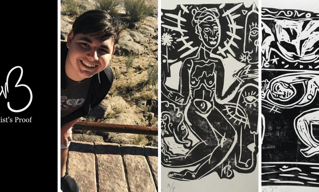 Only 16 years old and this young artist is already an avid art collector!