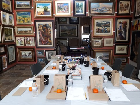 The table is set for my Bloemfontein Workshop