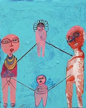 Acrylic on canvas. 43x35cms 2009
