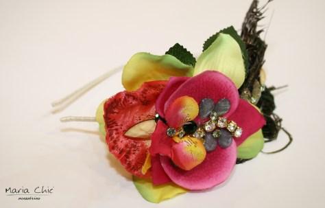 tiara customizada, flores