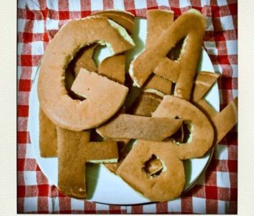 Letter Pancakes Typography