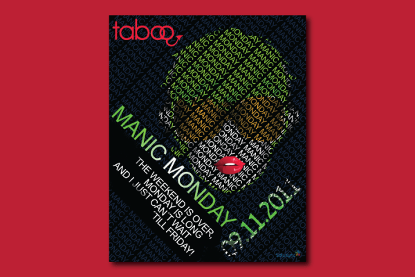 Taboo-Manic-Monday-Flyer