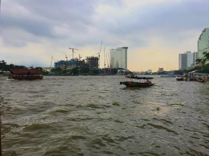 A gloomy and rainy morning along the Chao Phraya, Bangkok.