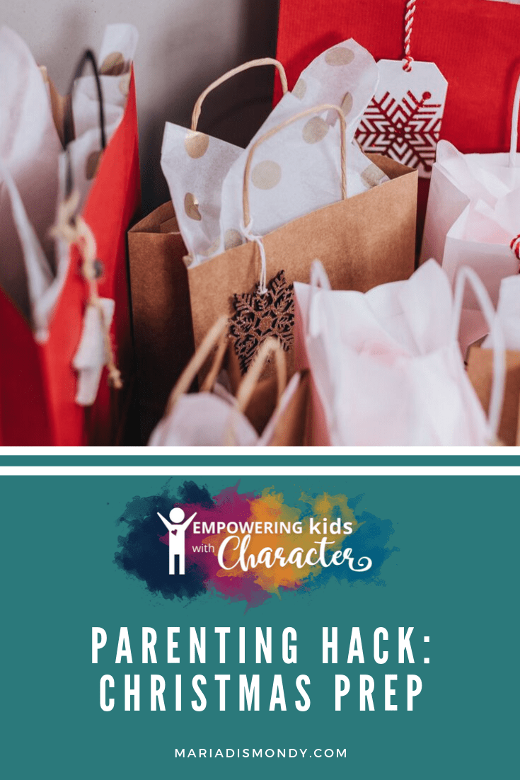 Parenting Hacks-Christmas Preps