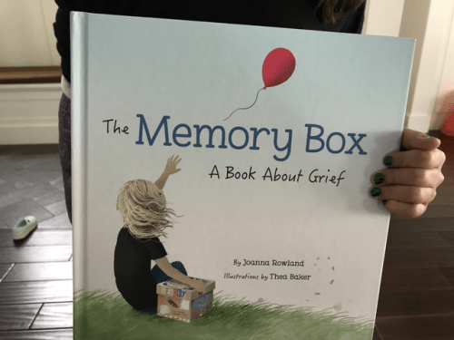 Book Review-The Memory Box A Book About Grief by Joanna Rowland - mariadismondy.com