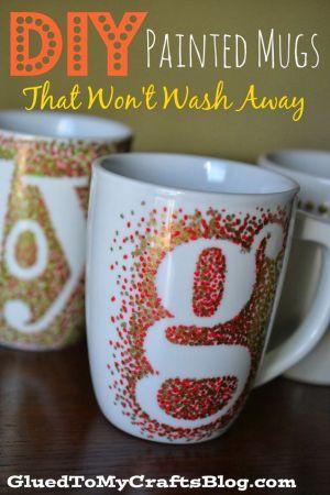 Maria's Pinterest Top Picks! Craft DIY Painted Mugs - That Won't Wash Away