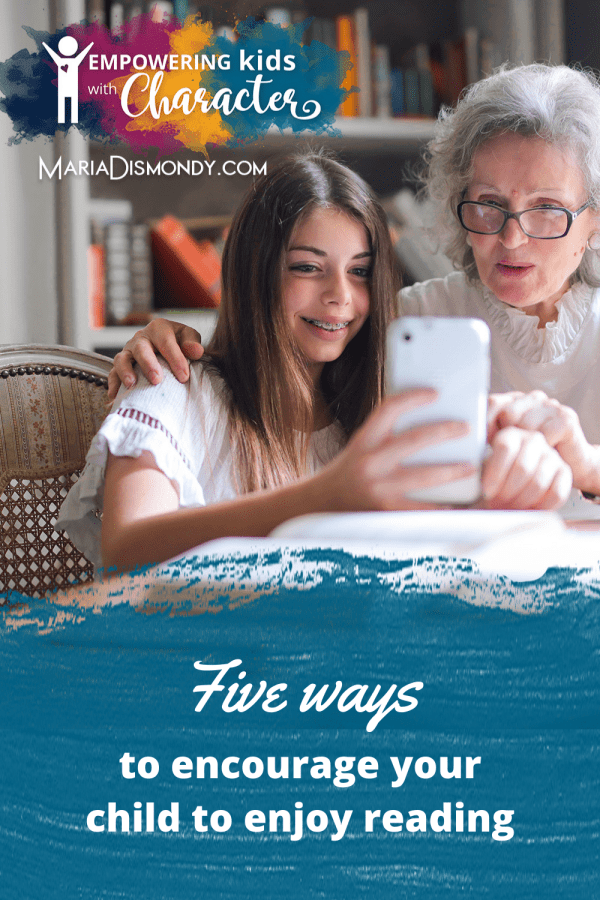 """""""How can I get my child to enjoy reading?"""" There are a number of ways to do this, but I have 5 ideas I typically give every time. #EnjoyReading #reading #Howtoenjoyreading #ReadingBooks"""