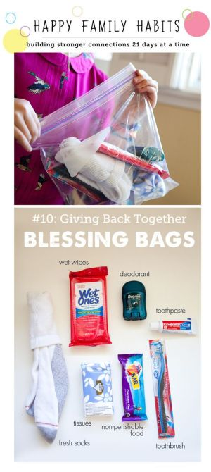Maria's Pinterest Top Picks Family Activity Creating a Blessing Bag