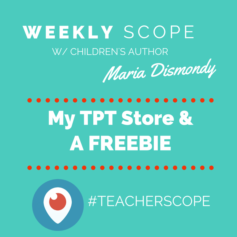 Weekly #teacherscope- My TPT Store & A FREEBIE