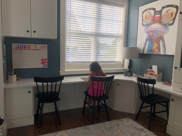Homeschool Classroom Set-Up-Remote Learning. We are learning at home and getting our place ready to have some SUCCESS in doing so. #Homeschool #ClassroomSetup #LearnFromHome #RemoteLearning #LearningAtHome